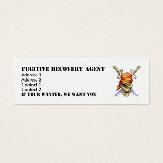 Mini Carte De Visite icône, agent fugitif de récupération, adresse 1,