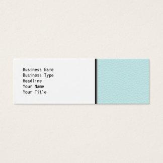 Mini Carte De Visite Image de cuir léger de turquoise