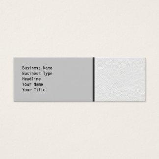 Mini Carte De Visite Image du cuir blanc