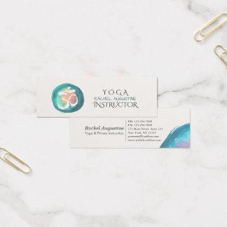 Mini Carte De Visite Instructeur de méditation de yoga de symbole de