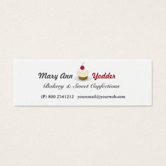 Mini Carte De Visite Jolies confections de Baker de petits gâteaux de