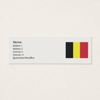 Cartes De Visite Drapeau Belgique