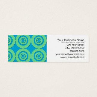 Mini Carte De Visite La turquoise verte en bon état entoure le motif