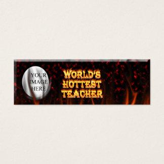 Mini Carte De Visite Le feu du professeur du monde et le rouge de
