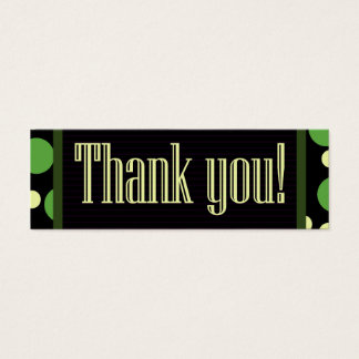 Mini Carte De Visite Le jaune vert de Merci pointille l'arrière - plan