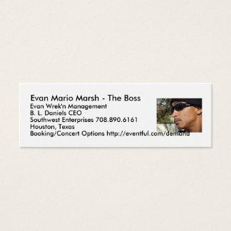 Mini Carte De Visite Marais d'Evan Mario - le patron…