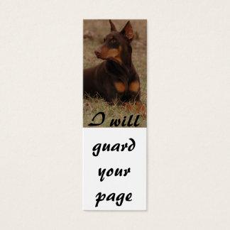 Mini Carte De Visite Marque-page de dobermann
