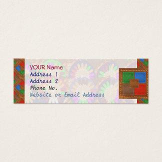 Mini Carte De Visite Modèle coloré de cuir de grâce de frontière de