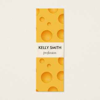 Mini Carte De Visite Motif jaune de fromage
