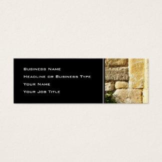 Mini Carte De Visite Mur en pierre. Avec la petite usine