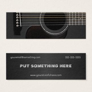 Mini Carte De Visite Noir de guitare acoustique