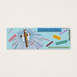 Mini Carte De Visite Noms de signet de Dieu