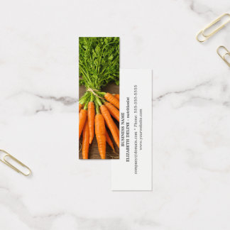 Mini Carte De Visite Nutritionniste propre moderne de photo de carottes