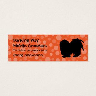 Mini Carte De Visite Orange de soin des animaux familiers de Pekingese