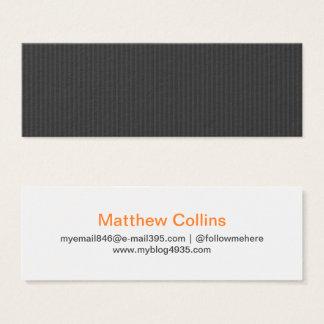 Mini Carte De Visite Personnel élégant générique de texture moderne