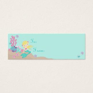 Mini Carte De Visite Petite blonde de l'étiquette S de cadeau de la