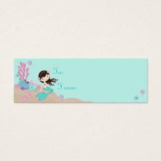 Mini Carte De Visite Petite brune de l'étiquette S de cadeau de la