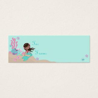 Mini Carte De Visite Petite étiquette S aa de cadeau de la sirène TY