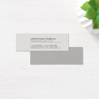 Mini Carte De Visite Plaine grise élégante créative moderne