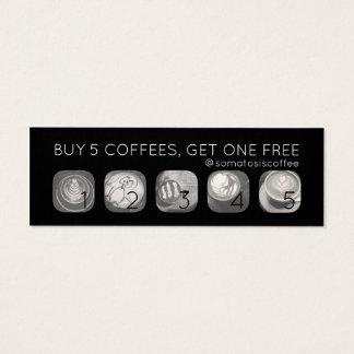 Mini Carte De Visite poinçon de grammes de café