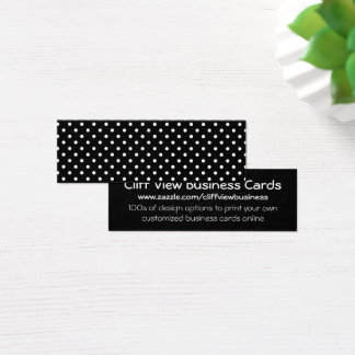 Mini Carte De Visite Pois noir et blanc