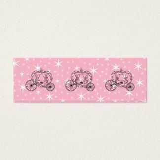 Mini Carte De Visite Princesse Coach Design dans le noir et le rose