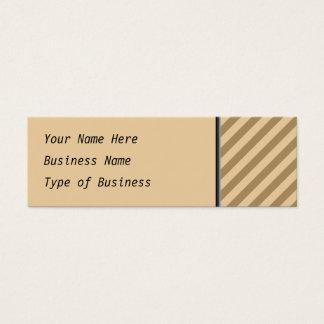 Mini Carte De Visite Rayures de Brown