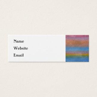 Mini Carte De Visite Rayures multicolores