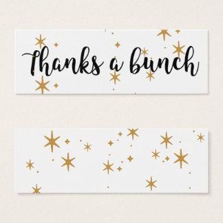 Mini Carte De Visite Remercie des étoiles d'un or de groupe arrosées