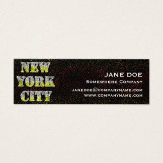 Mini Carte De Visite Scintillements argentés d'or de New York City