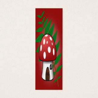 Mini Carte De Visite Signet de Chambre de champignon