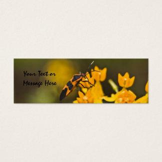 Mini Carte De Visite Signet d'insecte d'aîné de boîte
