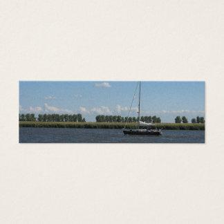 Mini Carte De Visite Signet néerlandais de photo de Polder de bateau à