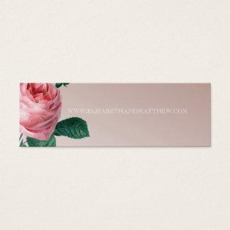 Mini Carte De Visite Site Web rose de mariage de brume rose