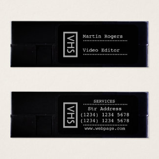 Mini Carte De Visite Style drôle de sembler de faux de VHS