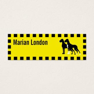 Mini Carte De Visite Taxi de chien