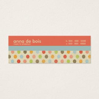 Mini Carte De Visite Télécarte de maman de point de polka d'amusement
