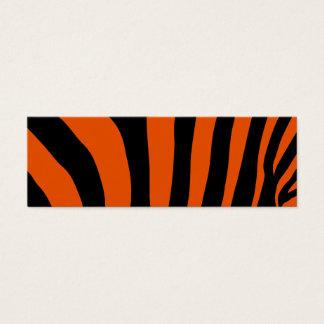 Mini Carte De Visite Télécarte orange de rayure de zèbre