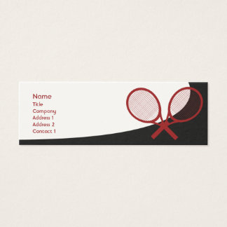 Mini Carte De Visite Tennis - maigre