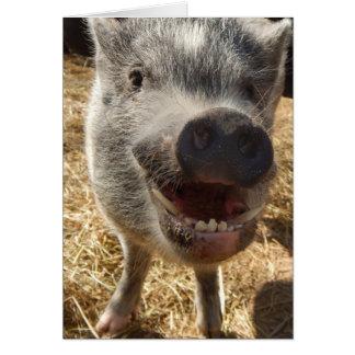 Mini carte de voeux de sourire personnalisée de