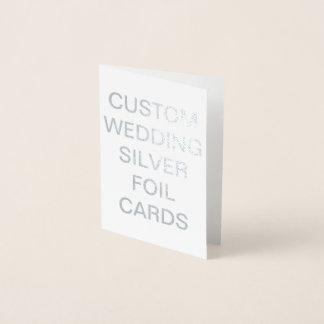 Mini carte personnalisée d'aluminium argenté de
