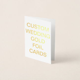 Mini carte personnalisée de feuille d'or de