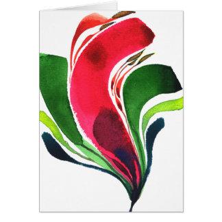 Mini carte pour notes 001 de fleur