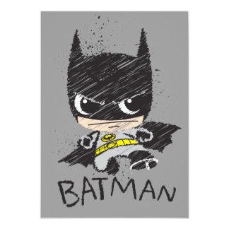 Mini croquis classique de Batman Carton D'invitation 12,7 Cm X 17,78 Cm