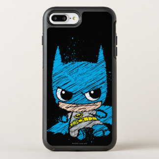 Mini croquis de Batman Coque OtterBox Symmetry iPhone 8 Plus/7 Plus