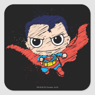 Mini croquis de Superman Sticker Carré