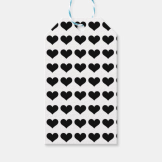 Mini étiquettes noires des coeurs |