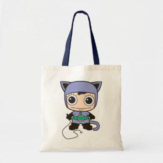 Mini femme de chat sac en toile budget