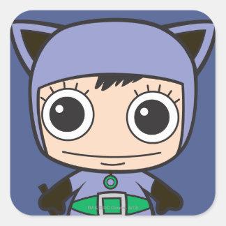 Mini femme de chat sticker carré