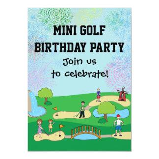Mini invitations de fête d'anniversaire de golf